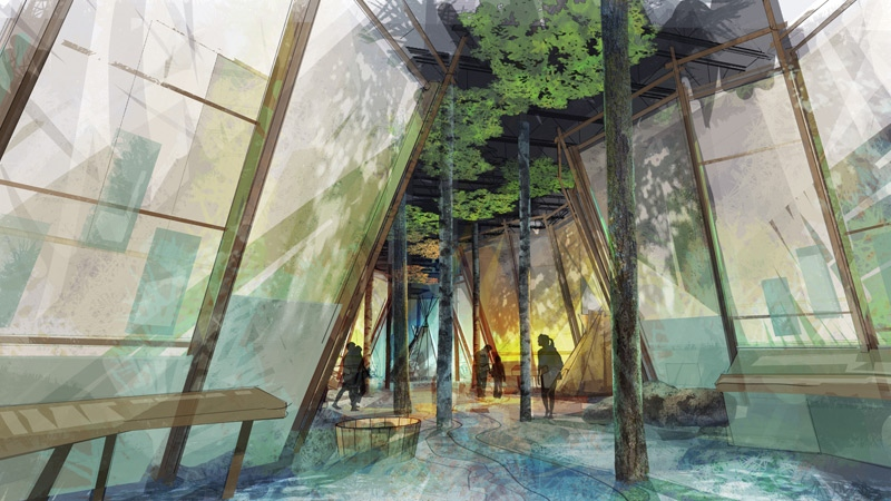 An artist's rendering shows plans for displays at Fort Edmonton Park. Supplied.
