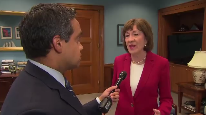 """It makes it more difficult, not less difficult to be able to resolve these concerns, if we have this war of words between the two countries,"" says Maine Sen. Susan Collins."