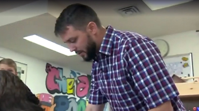 Teacher Zac Vine appears on CTV News, Tuesday, June 12, 2018.