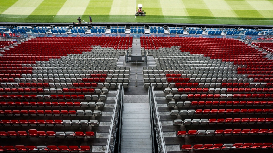 BMO Field in Toronto is pictured on Wednesday, June 13, 2018. FIFA's member associations voted 134 to 65, with one no-vote, Wednesday in favour of the joint North American bid by Canada, the U.S. and Mexico to host the 2026 World Cup over that of Morocco at the FIFA Congress in Moscow. THE CANADIAN PRESS/Christopher Katsarov