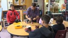Zac Vine and his students