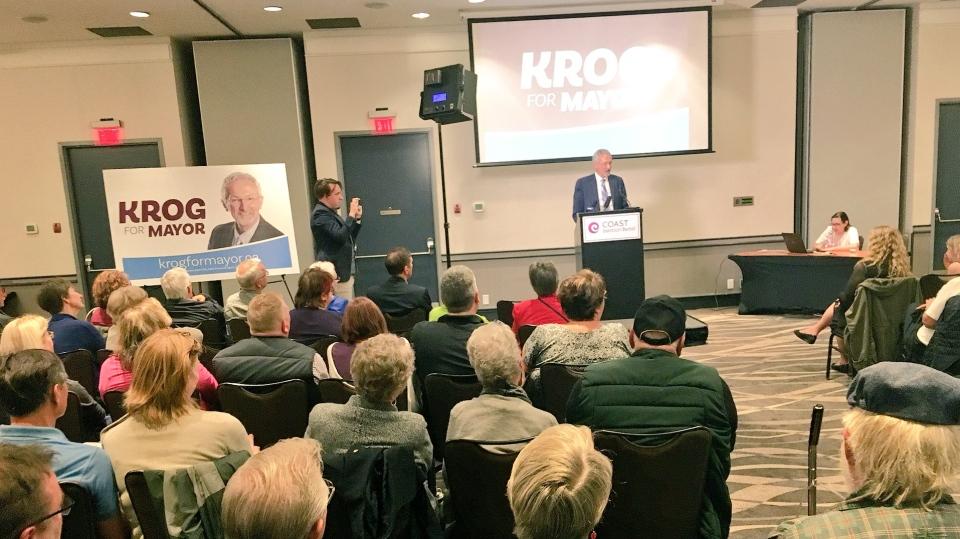Leonard Krog, a New Democrat member of the B.C. legislature, is running for the mayor's job in Nanaimo. June 13, 2018. (CTV Vancouver Island)
