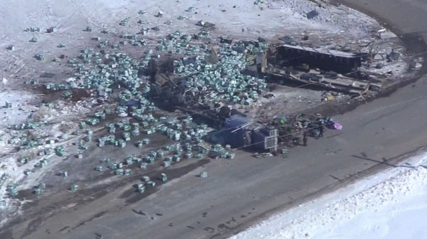 16 people were killed when the Humboldt Broncos team bus and an Adesh Deol Trucking truck crashed on a rural highway in Saskatchewan.