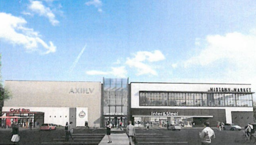 A rendering from the City of Saskatoon website shows proposed plans for the former Sears space at Midtown Plaza. (supplied)