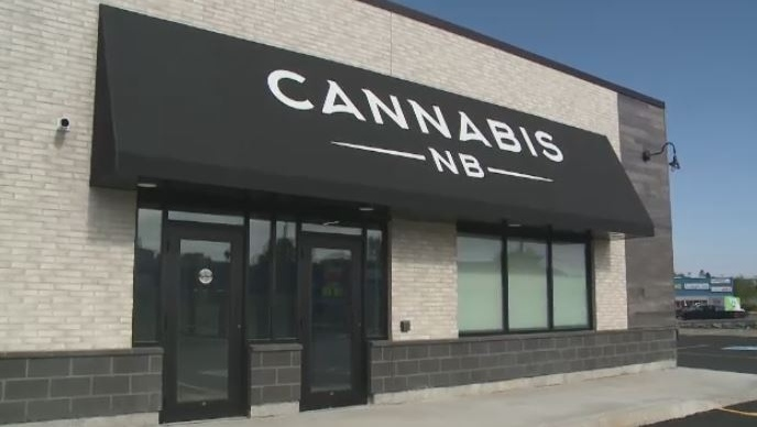 The New Brunswick government unveils a Cannabis NB store in Saint John on June 13, 2018.