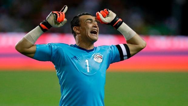 Egypt's 45-year-old goalkeeper Essam El Hadary