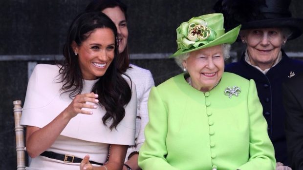 Queen and Duchess Meghan make their first joint appearance