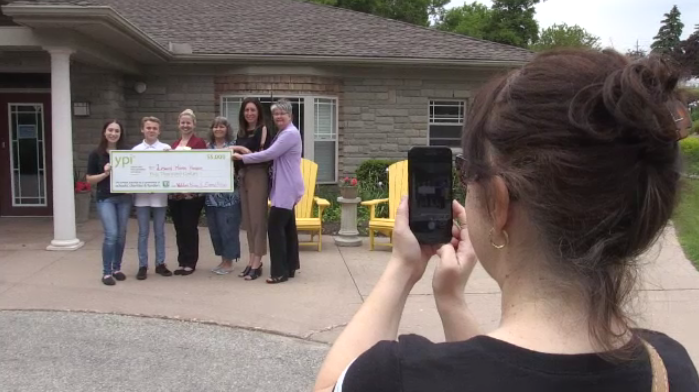 A Cambridge high school student won an award for her project on a local hospice.