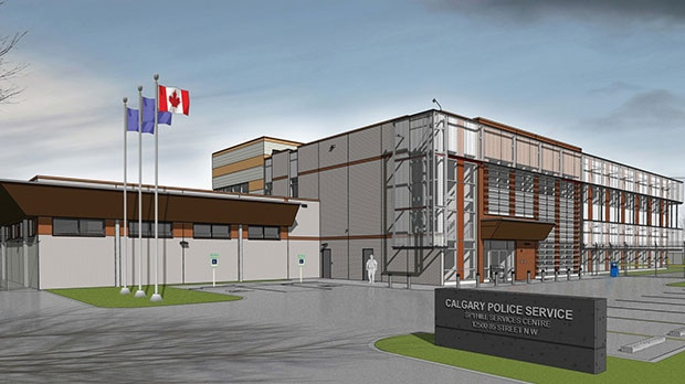 The two-storey building will sit on 3.15 acres on lease from the Province of Alberta. (CPS)