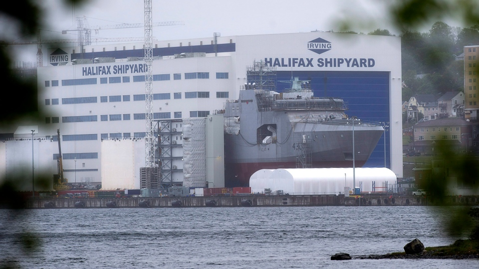 The Irving Shipbuilding facility is seen in Halifax on Thursday, June 14, 2018.  (THE CANADIAN PRESS/Andrew Vaughan)