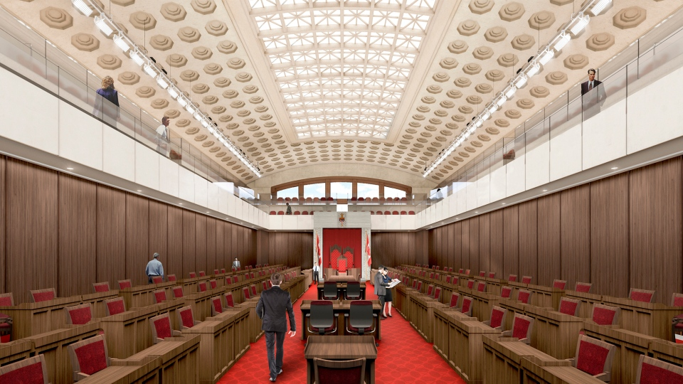 An artist's endering of the Senate Chamber within the Government Conference Centre.