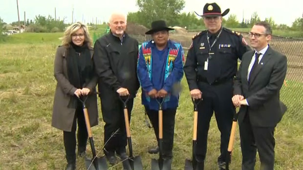 Chief Roger Chaffin, Calgary Police Commission Chair Brian Thiessen and Alberta Minister of Infrastructure Sandra Jansen were among those who attended the ground breaking ceremony.