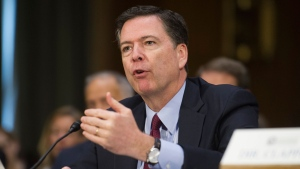 In this Jan. 10, 2017 file photo, then-FBI Director James Comey testifies on Capitol Hill in Washington. (AP / Cliff Owen, File)