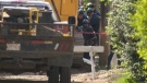 Emergency crews were called to rescue a man trapped at an east Edmonton construction site on June 14, 2018.