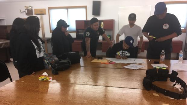 Searchers organize efforts. (Sarah Plowman/CTV News)