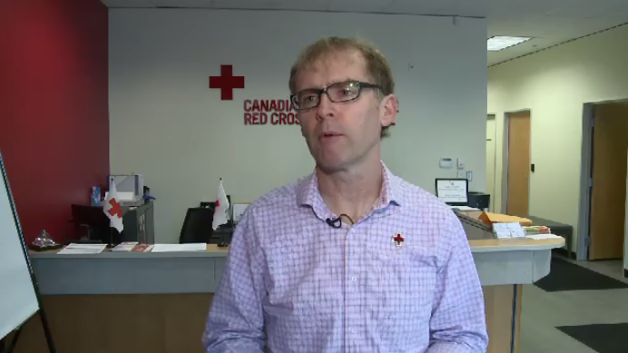 """As soon as they get through the system, as quickly as we can turn it around, and through our system process that electronic funds transfer, payment will be issued, or a cheque will be cut,"" said Bill Lawlor of the Canadian Red Cross in Saint John."