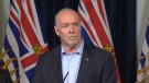 B.C. Premier John Horgan announced the formation of an advisory council to develop plans to restore and protect B.C.'s wild salmon stock. Friday, June 15, 2018. (CTV Vancouver Island)