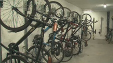 Bikes locked in garage
