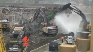 Transport Quebec is keenly aware of the noise issue at the Turcot work site - but they say the project must be completed before 2020, and it's too late to change the schedule. (CTV Montreal)