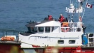 Search for survivors after boat capsizes