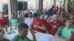 A Portuguese bakery in Kitchener has set up an outdoor viewing experience for fans of the country in the FIFA World Cup.