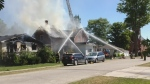A family of five was lucky to escape after their house caught fire, and sustained damage that will lead it to be demolished.