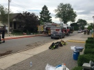 A fire on Highland Avenue in Windsor killed nine cats on Saturday, June 16, 2018. (Gord Bacon / AM800)