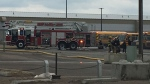 Authorities say that an early morning fire at the City of Lethbridge bus depot caused about $500,000 worth of damage.