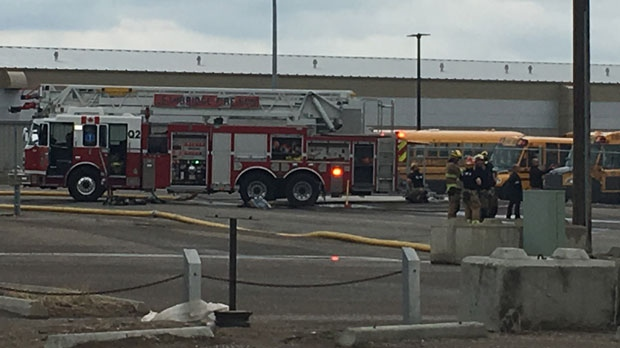 Lethbridge bus depot fire