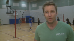 New Brunswick Premier Brian Gallant took a break from preparing for the upcoming provincial election Saturday to host the annual fundraising volleyball tournament.