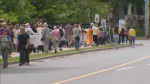 A march throughout the streets of Halifax was held to mark World Refugee Day.
