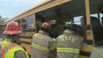 Firefighters from South Eastern New Brunswick took part in a mock exercise to prepare crews to respond to a bus crash.