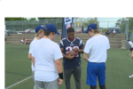 Play 60 brought four members of the New England Patriots to the Maritimes to encourage young people to exercise for at least an hour a day.