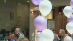 Dads and granddads were the guests of honour for a fashion show in Cambridge on Saturday.