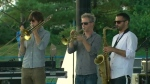 Musicians perform ahead of the Beaches International Jazz Festival in Toronto.