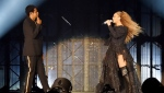 Beyonce & Jay-Z wear Givenchy - On The Run Tour II (© PRNewsfoto/Givenchy)