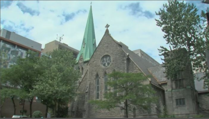 The goal was to transform the 150-year-old space that was St. James the Apostle the into much more than just a place of worship – the space now acts as a community center. (CTV Montreal)