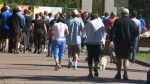 Hundreds participated in an event in Eau Claire aimed at raising money for prostate cancer research.