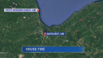 A family of five has been displaced after fire ripped through their home in Northern New Brunswick.