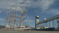 NRP Sagres, a navy training vessel from Portugal arrived in the Halifax Harbour on Sunday.