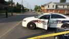 Guelph Police closed off several blocks on Elizabeth Street on Sunday.