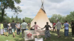 The Justice For Our Stolen Children protest is refusing to leave their camp in Wascana Park.