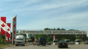 People enter Canadian Tire Motorsport Park in Bowmanville, Ont., on Sunday, June 17, 2018.