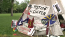 The Justice For Our Stolen Children Protest was evicted from their camp in Wascana Park.