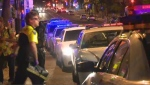 Montreal police are investigating three separate incidents that occurred around the city overnight from Sunday to Monday: a beating in Montreal North, a stabbing at Peace Park, and a Good Samaritan stabbed at Jardins Gamelin. (Cosmo Santamaria/CTV Montreal)