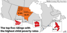Canada 2020 child poverty map
