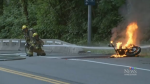 RCMP investigating mysterious motorbike fire