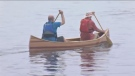 Riverdale High students complete 15-foot canoe