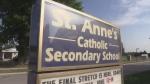 St Anne's Catholic Secondary School sign