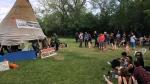 "The tipi at the ""Justice for our Stolen Children"" camp after several people were arrested on June 18, 2018. (WAYNE MANTYKA/CTV NEWS)"